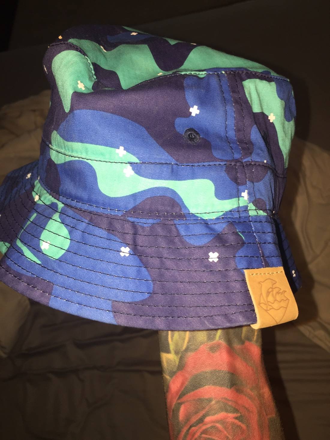 amazon pink dolphin ocean camo bucket hat size one size 3 6d7c9 9fabe cfd08de291c