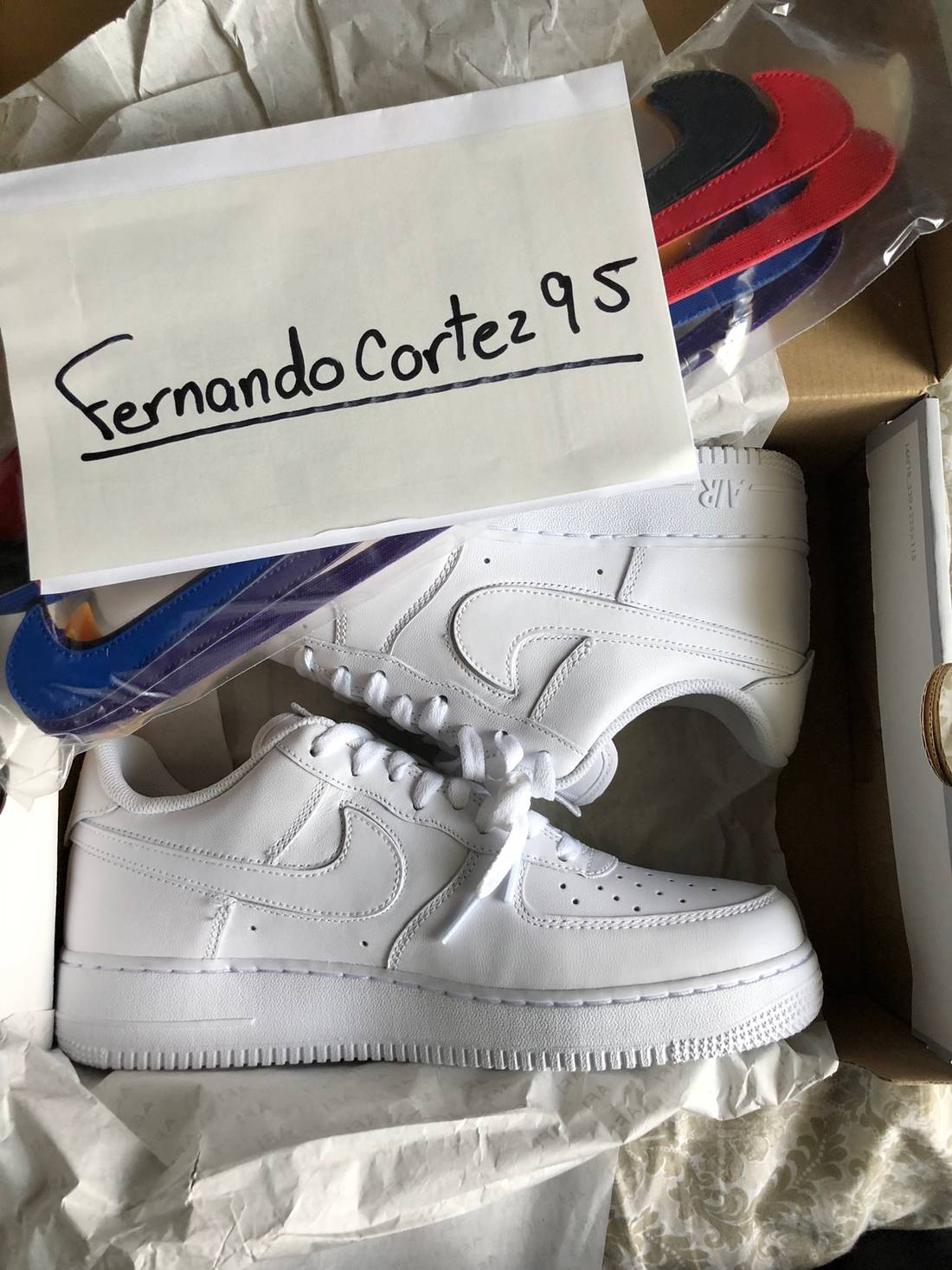 Nike Nike Air Force 1 \'07 QS Swoosh Pack(White) 100% Authentic ...