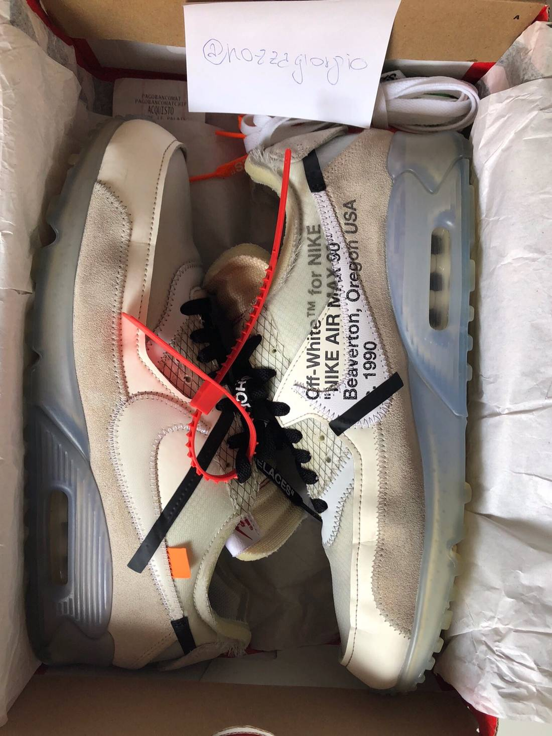 online store 7f3ed 9ff44 ... discount nike nike air max 90 off white size us 11 eu 44 1 f1506 0f1bd