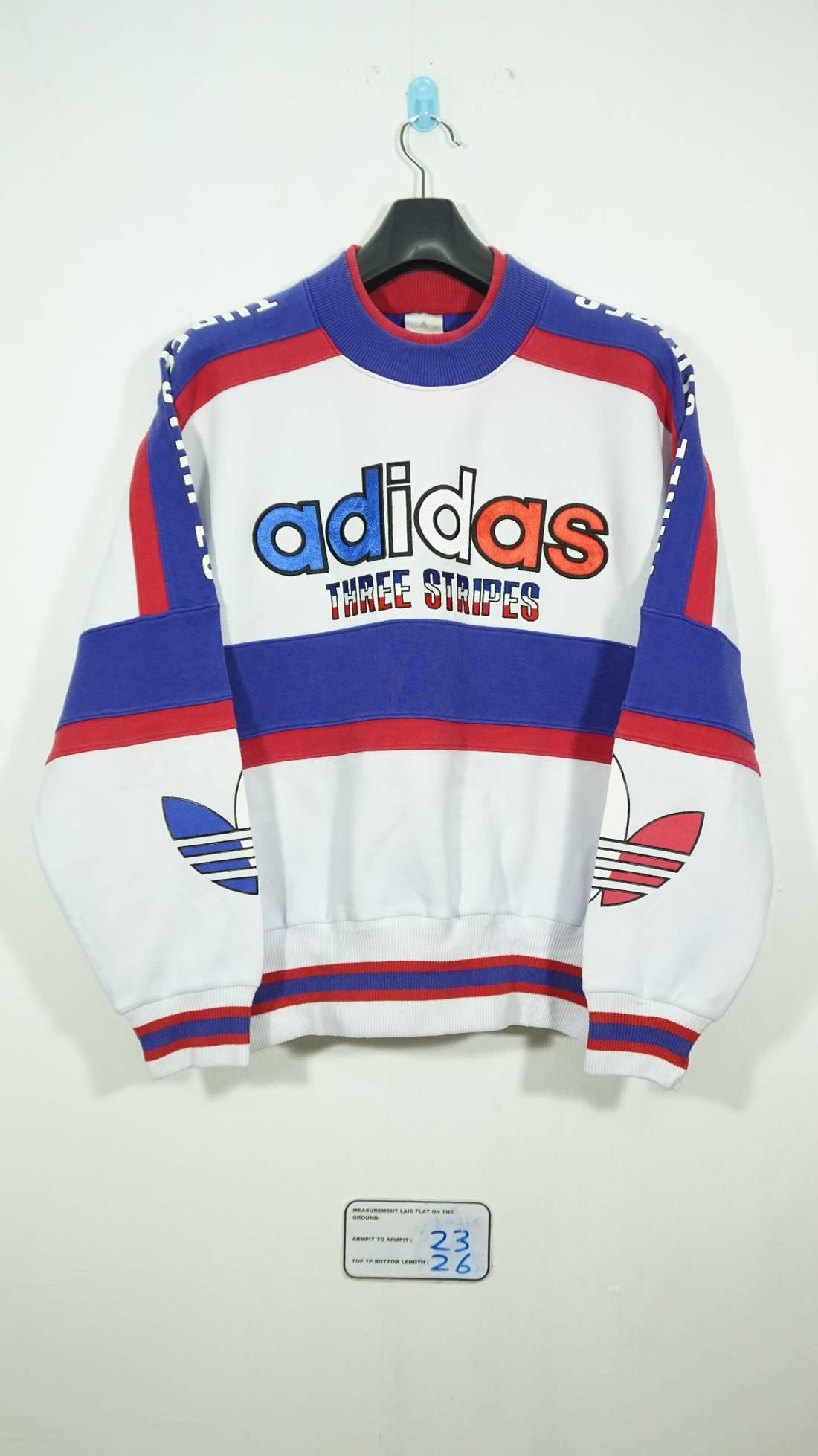 Adidas 6997 Vintage Adidas Multi Color Adidas Big Logo Trefoil Color Sweater Run Dmc 1358126 - itorrent.site