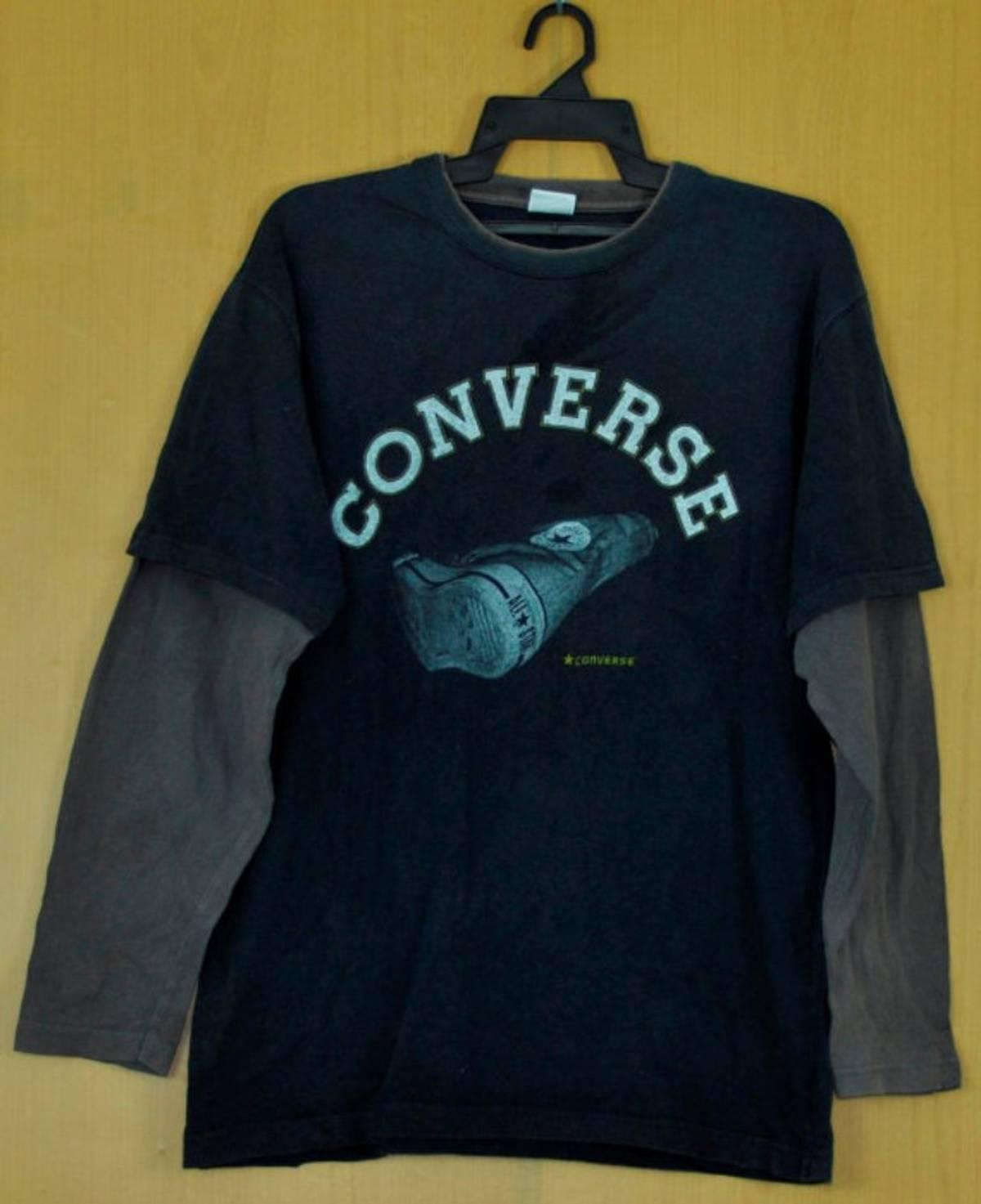 tornillo Pogo stick jump Posesión  Converse Vintage Converse T Shirt Long Slave Shirt Skate Hiphop Surf Puma Adidas  Nike Unisex Clothing Double Large | Grailed