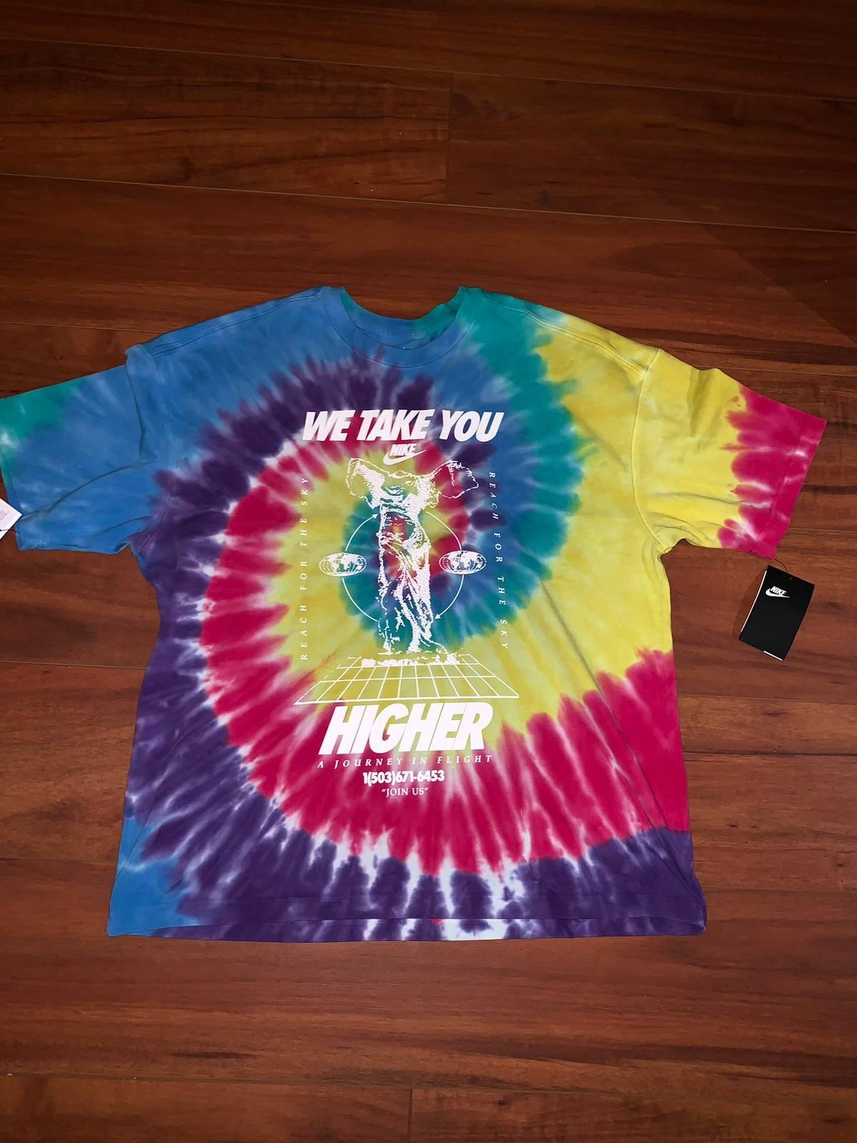 "Adjuntar a Conmoción Maravilla  Nike Nike Sportswear ""we Take You Higher"" Tye Dye T-shirt | Grailed"