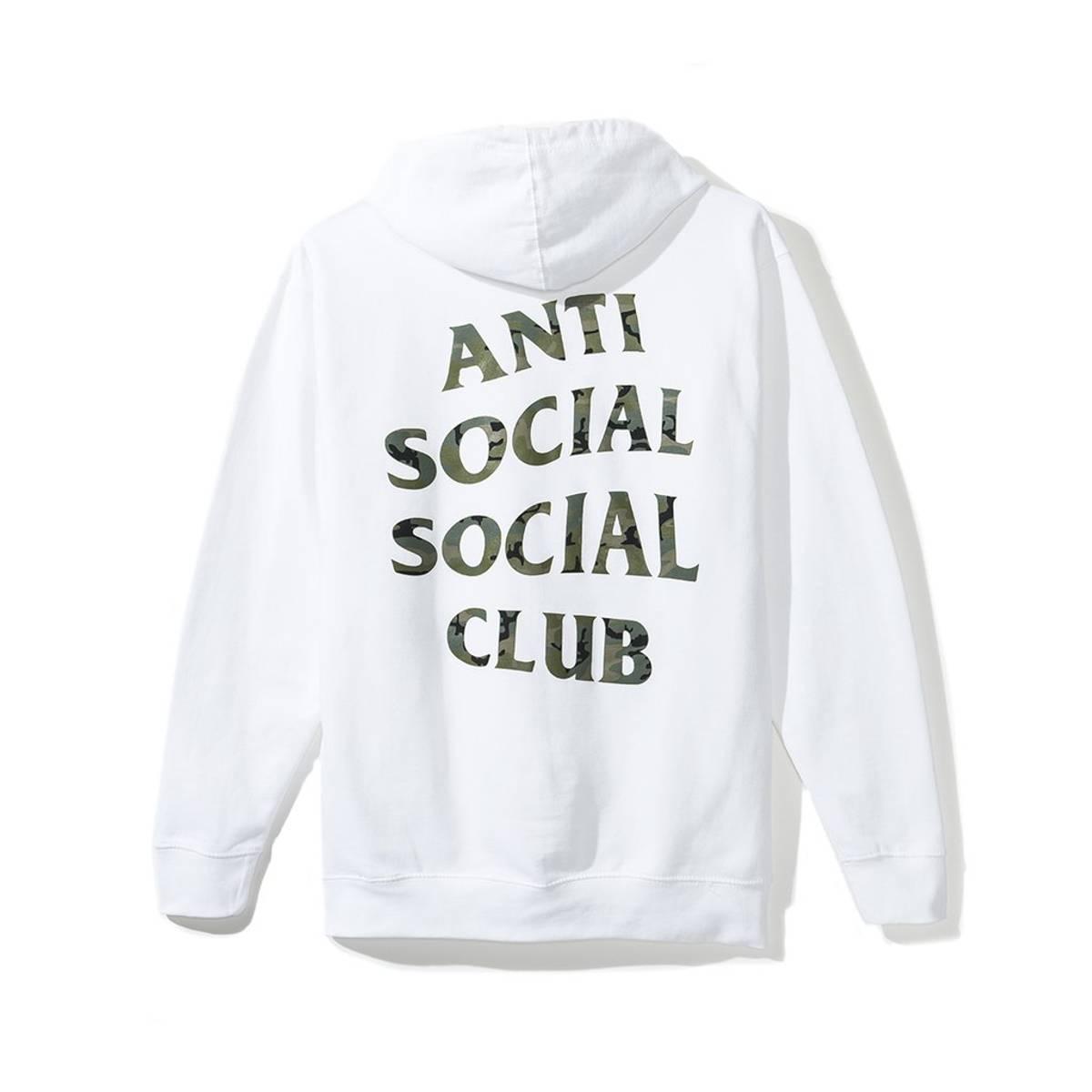 Anti Social Social Club Woody Green hoodie Camo 100/% Authentic Rare supreme