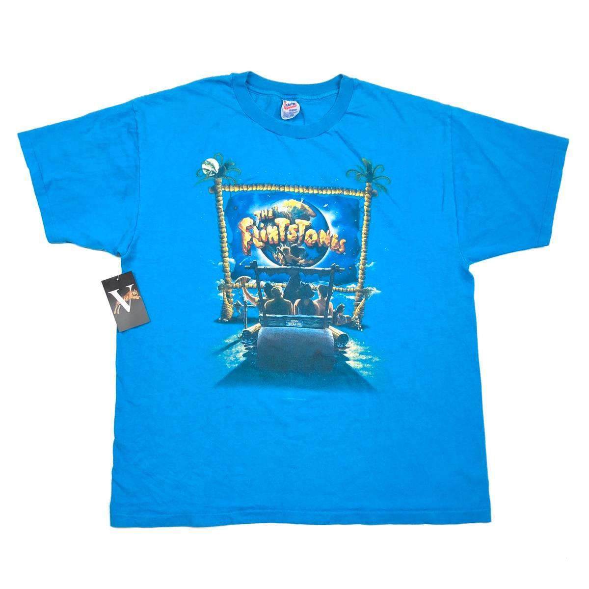 Vintage 2000 The Flintstones Cartoon Movie Promo Graphic T Shirt Size XL