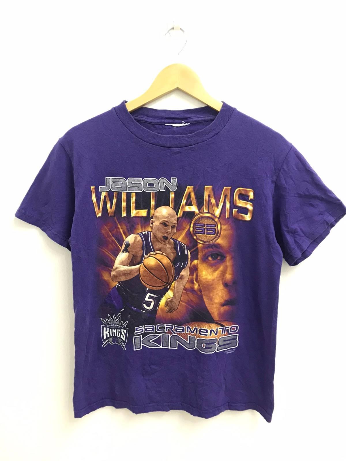 MMQQL /Ärmelloses Herren-Basketballtrikot Sacramento Kings # 55 Jason Williams Vintage Besticktes Oberteil Atmungsaktiv Und Schwei/ßabsorbierend,M170~175cm//65~75kg