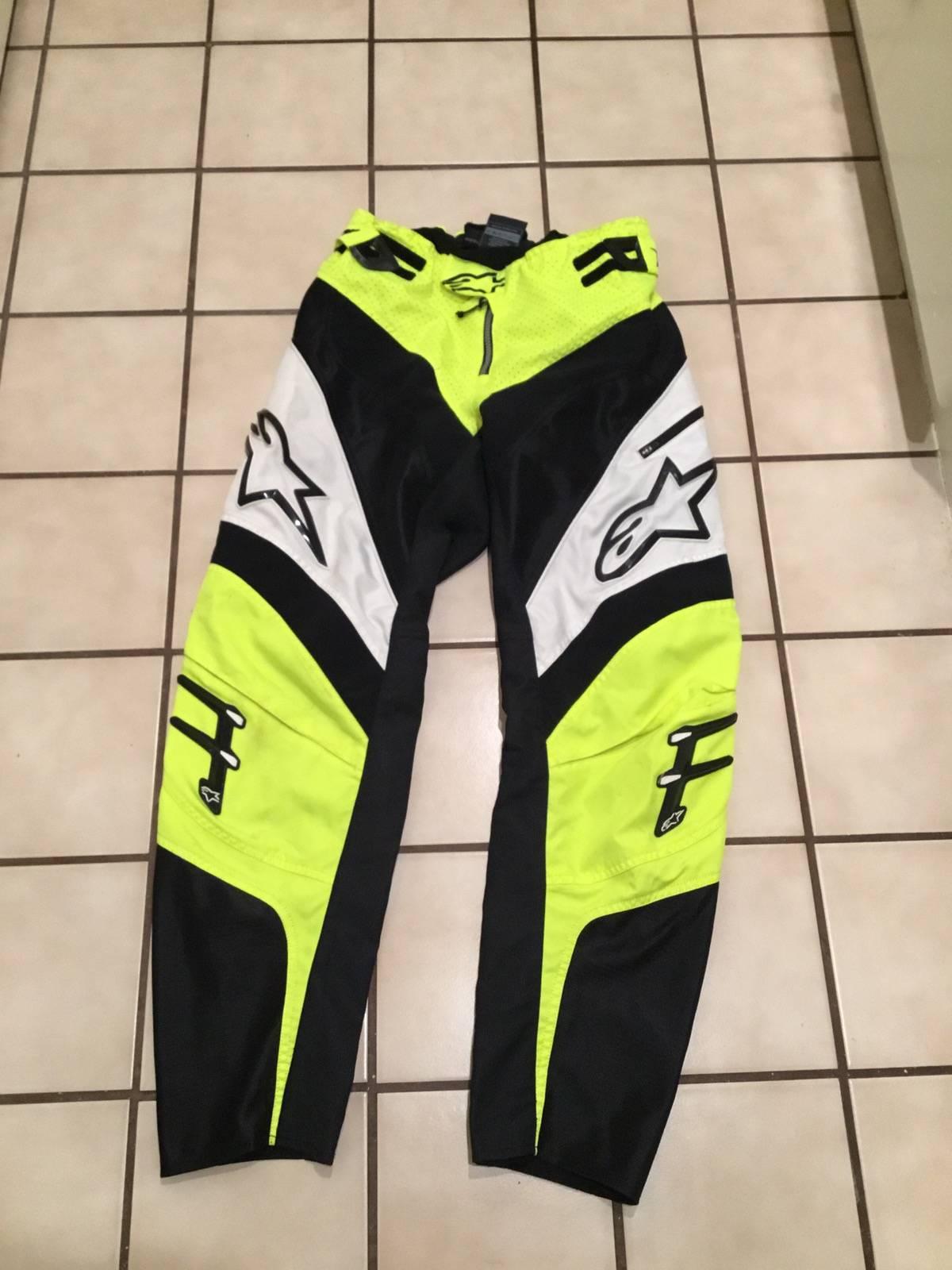 Vintage Alpinestars Mens Neon Highlight Motorcycle Mx Bmx Motocross Pants Sz 30 Grailed