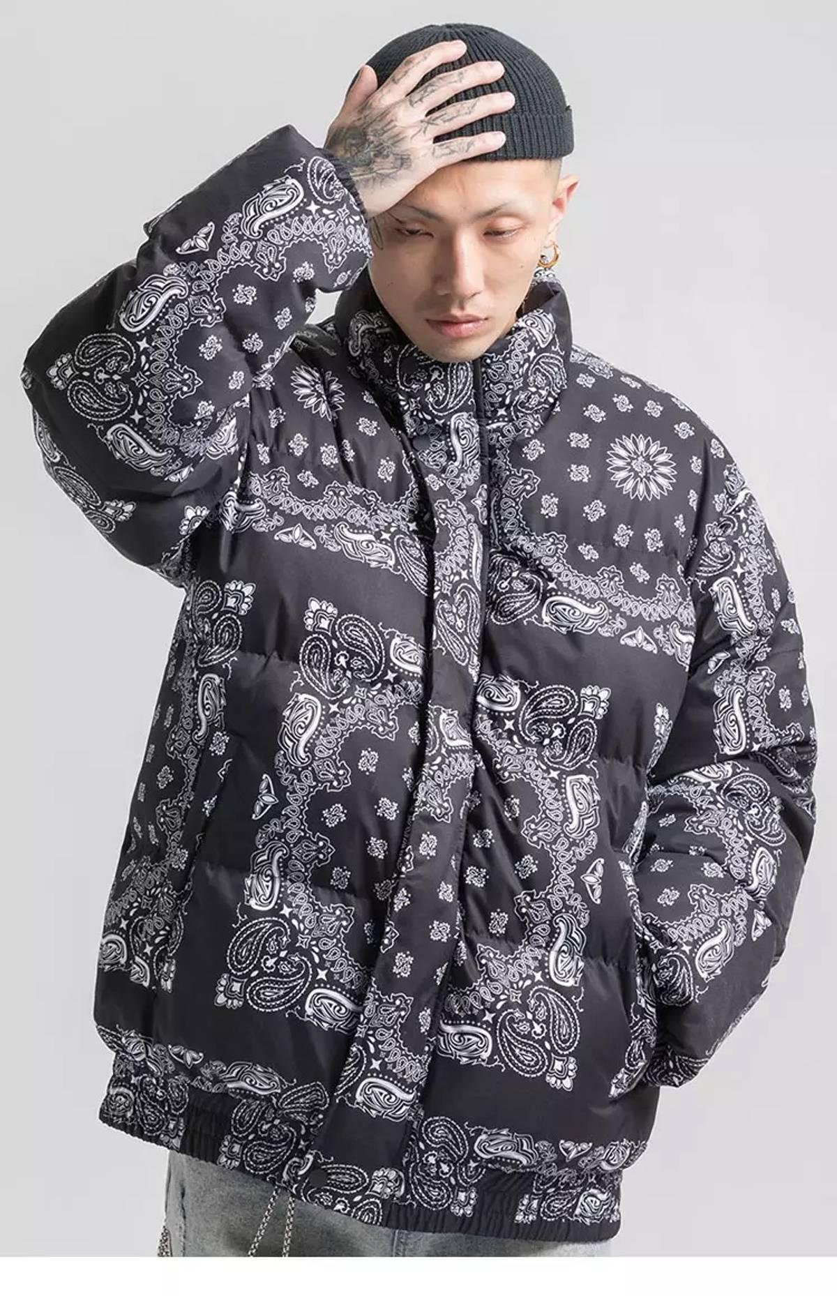 Japanese Brand Paisley Bandana Print Puffer Jacket Grailed