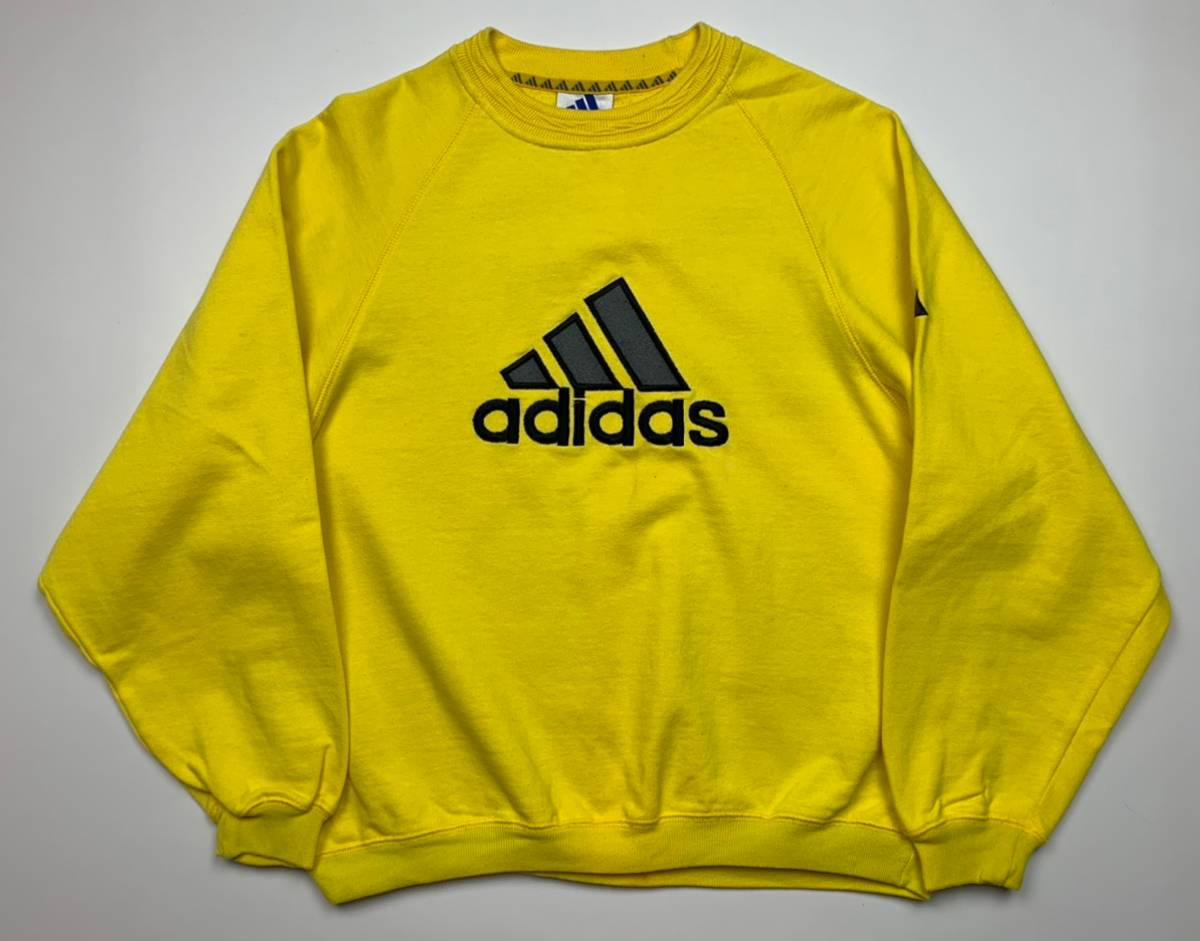 Húmedo Aburrir centavo  Adidas Adidas Rare Yellow Vintage Big Logo Sweatshirt   Grailed