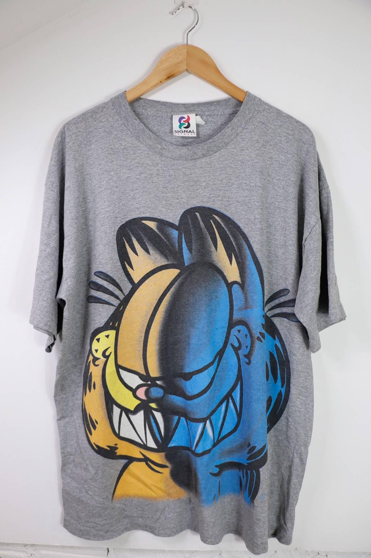 Vintage Vintage Garfield Big Logos T Shirt Grailed