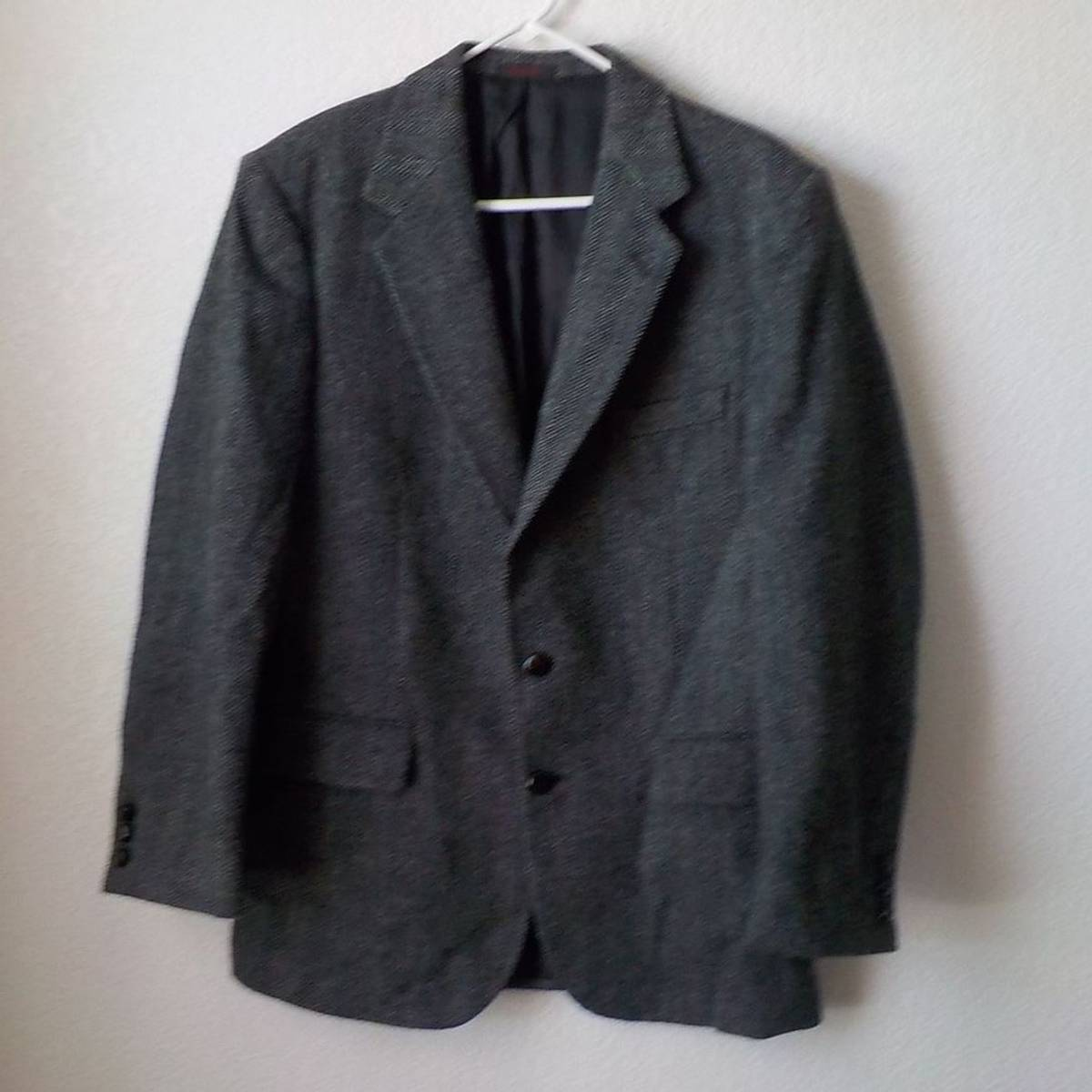 Austin Reed Austin Reeds Wool Blazer 40r Dark Gray Two Bottons Bulgaria Grailed