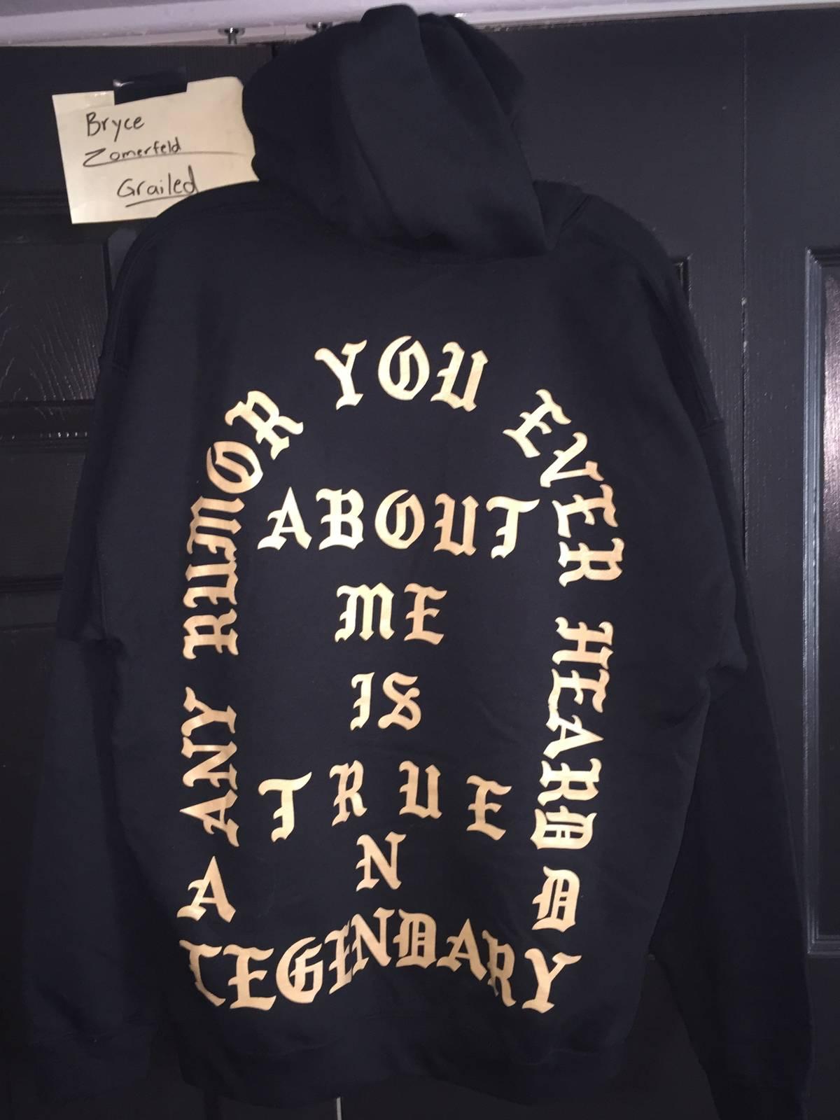 Kanye Pablo Miami Pop Up Perfect Black Crew Neck Sweatshirt Sweater S Small