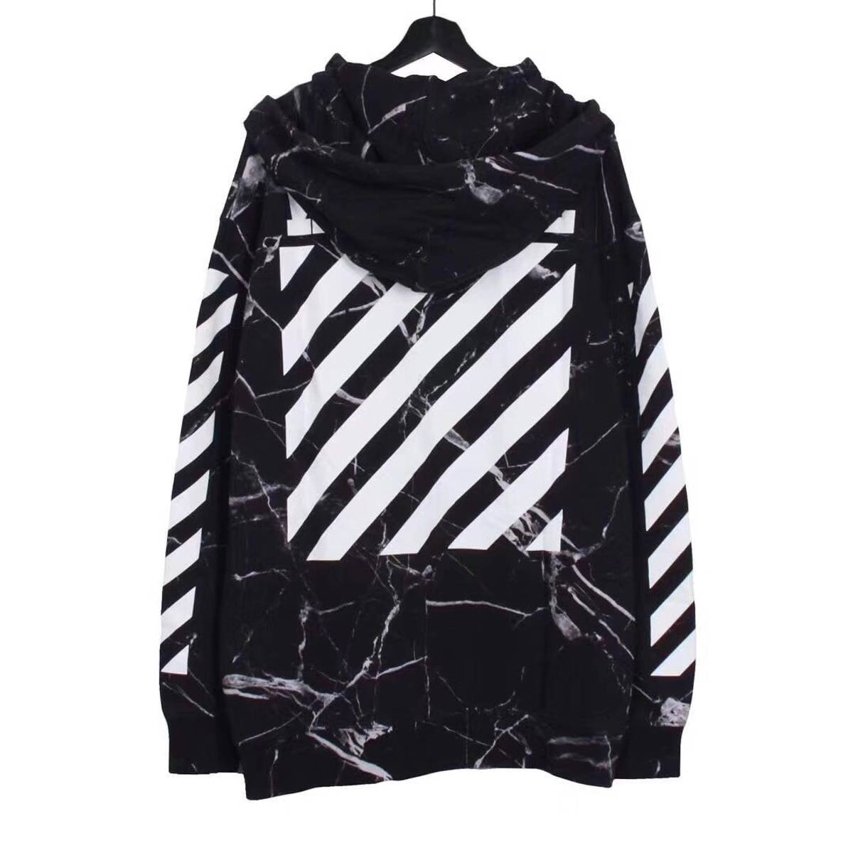Off White Off White Black Marble Hoodie M Grailed