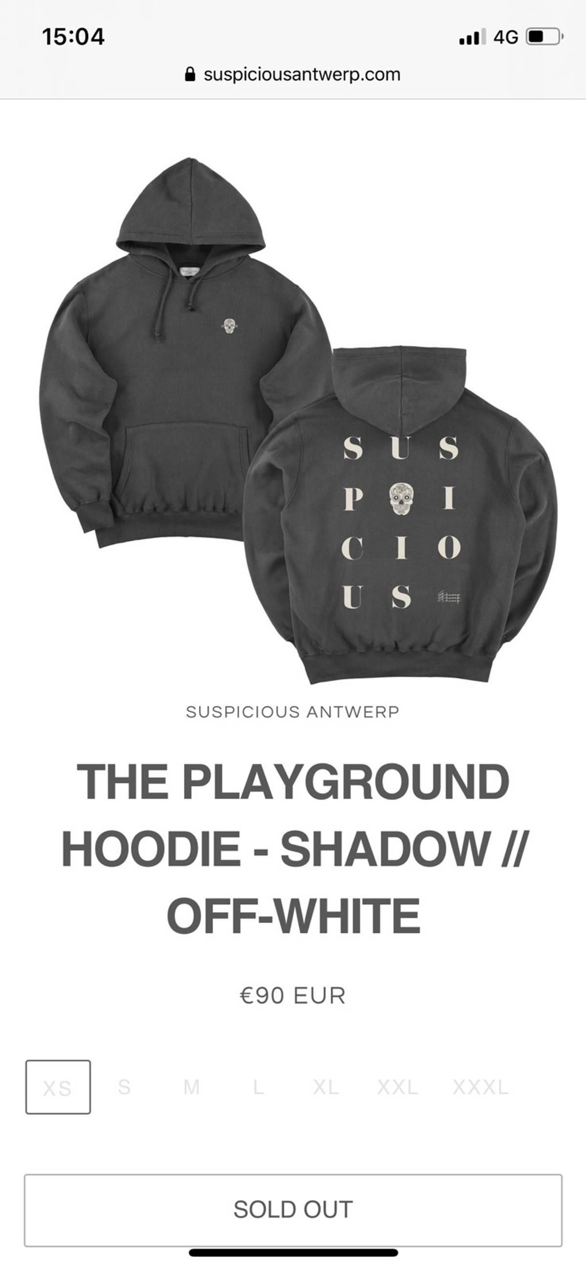 Suspicious Antwerp The Playground Hoodie Grailed