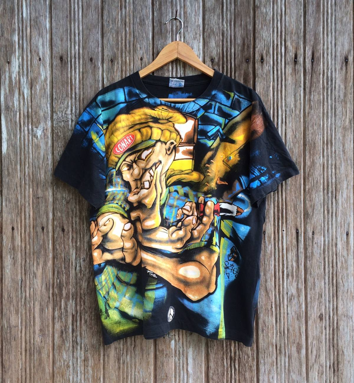 Vintage 90\u2019s Gangster All Over Print Shirt