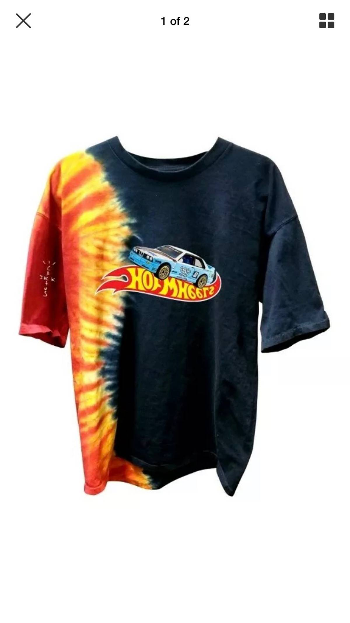 Travis Scott Travis Scott Jackboys Racing Tie Dye T Shirt Tee Grailed