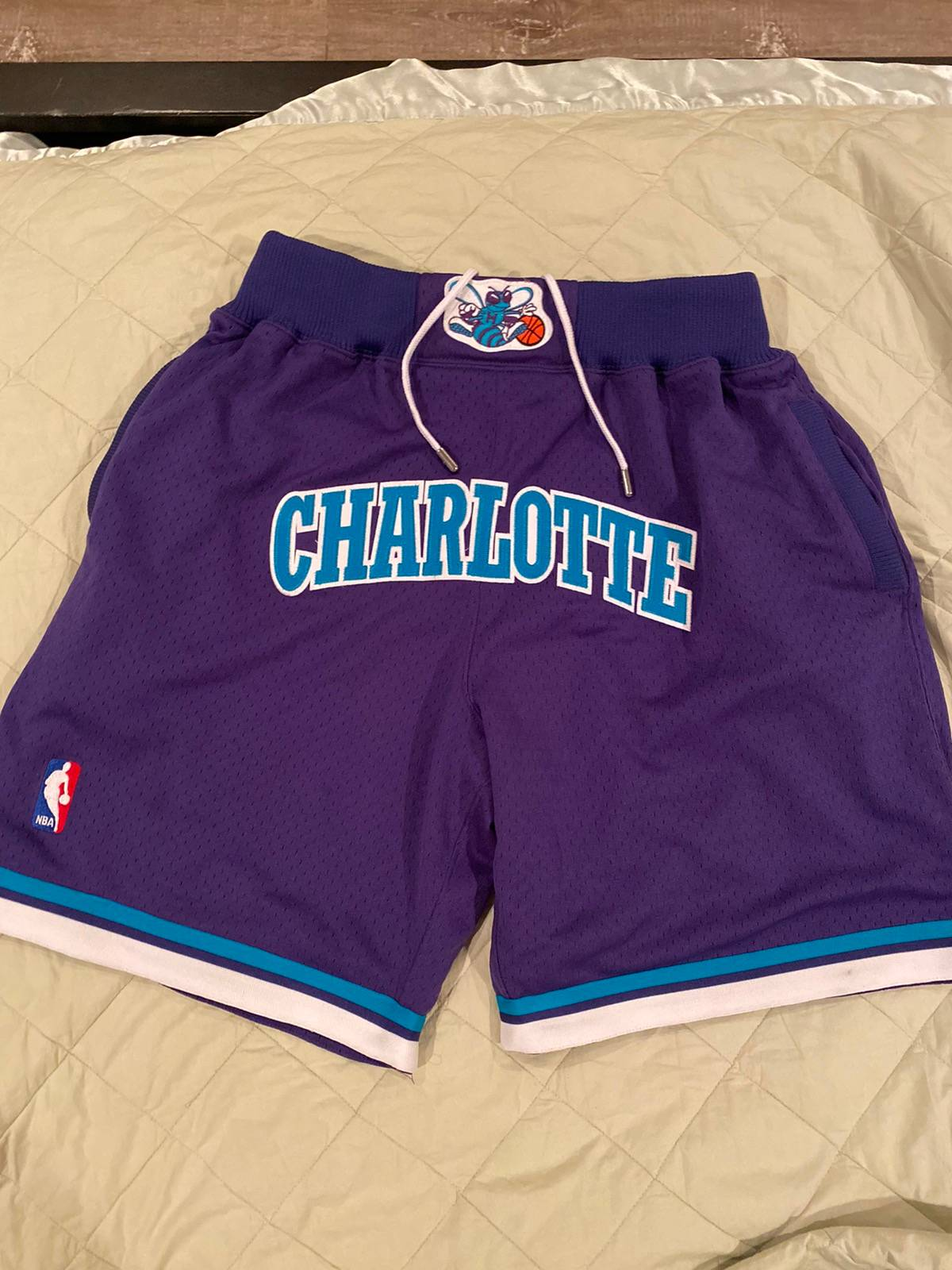 Mitchell Ness Jus Don X Mitchell Ness Charlotte Hornets Nba Shorts Grailed