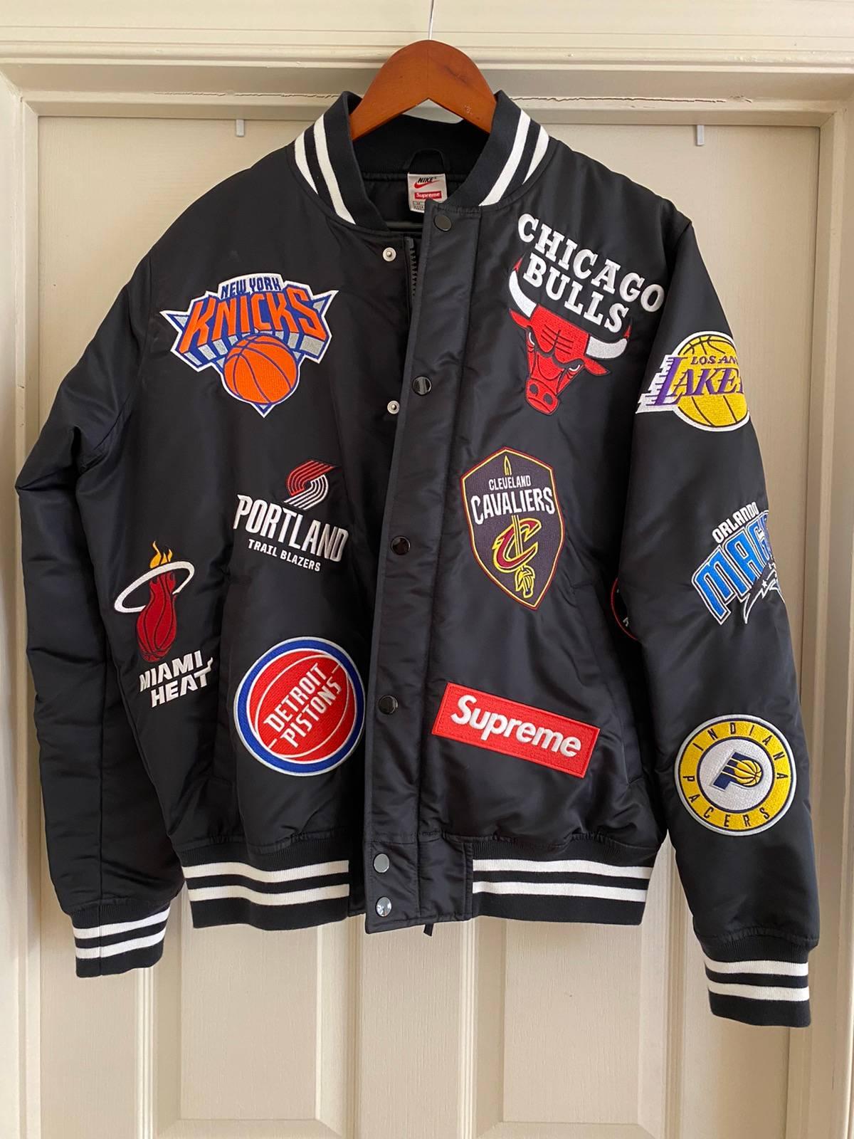 Valle población Mismo  Supreme Supreme X Nike X Nba Teams Logo Warm-up Jacket Black | Grailed
