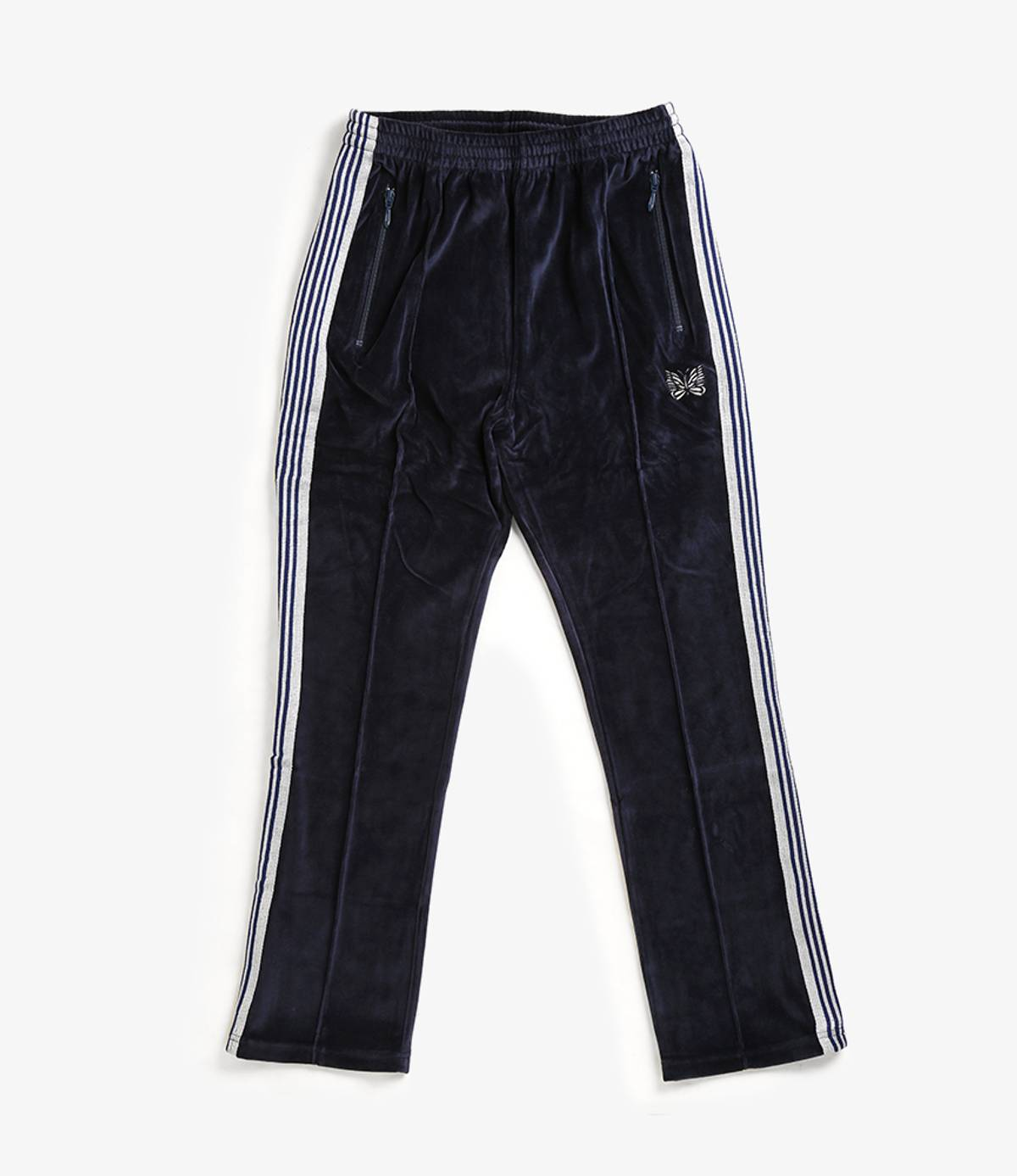 Needles Narrow Track pant c//pe velour grey brand new Japan Nepenthes EJ202 19SS