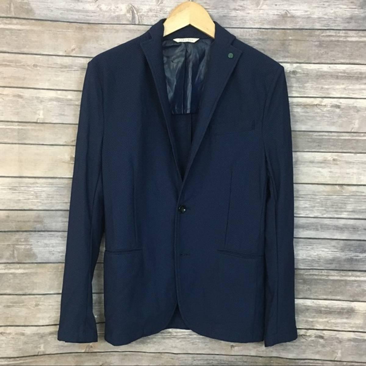 Zara Zara Man Navy Blue Blazer Grailed