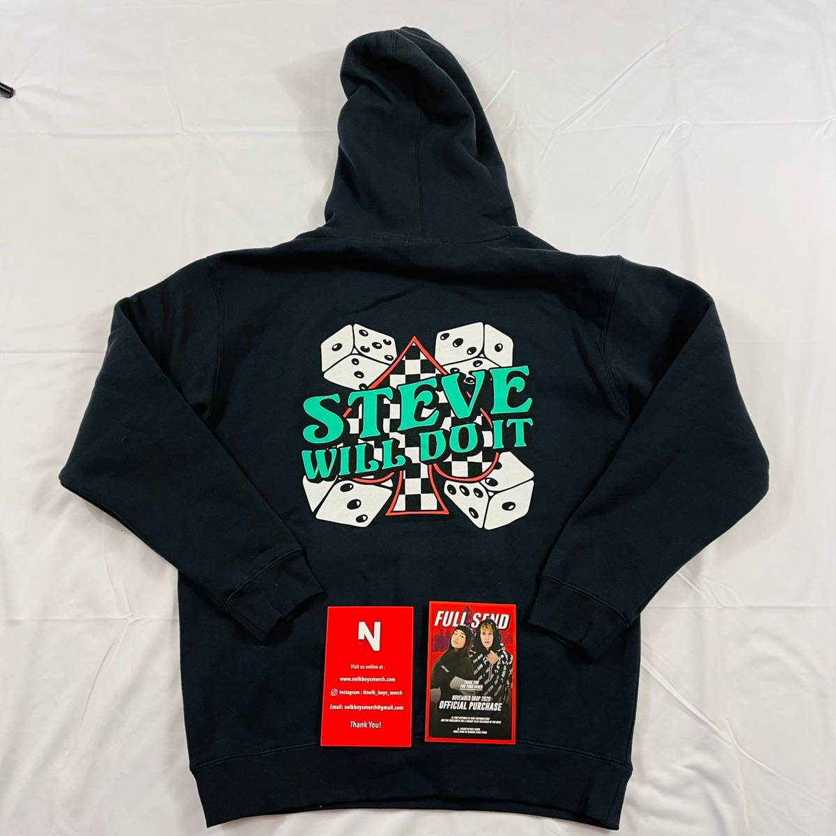 Full Send By Nelk Boys New Nelk Boys Navy Stevewilldoit Dice Hoodie Limited Grailed Casino mogul steve wynn is widely known for his role in helping to turn las vegas into the gambling destination it is today. grailed