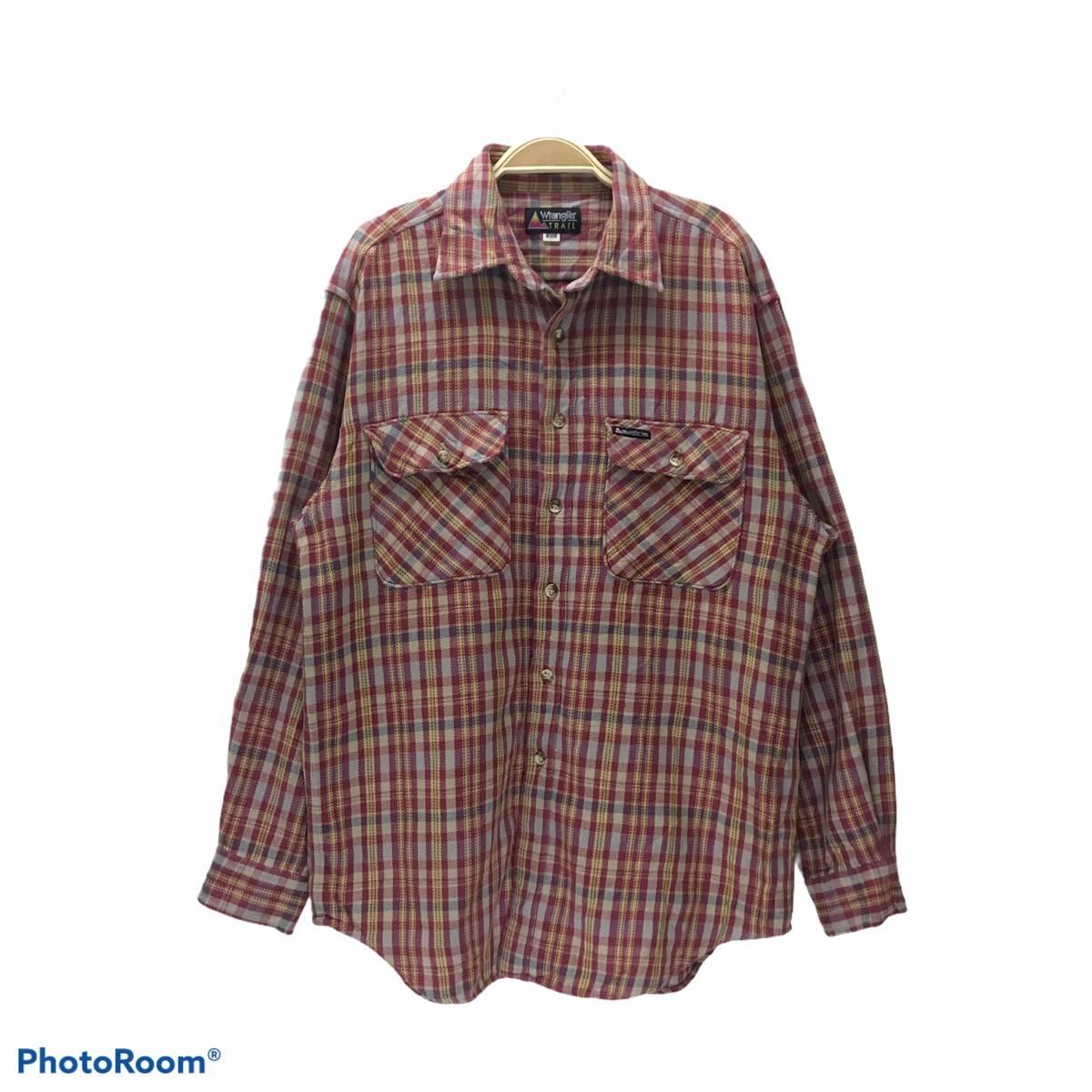 Vintage Wrangler Button up  Maroon Wangler Shirt  Vintage Wangler  Wrangler