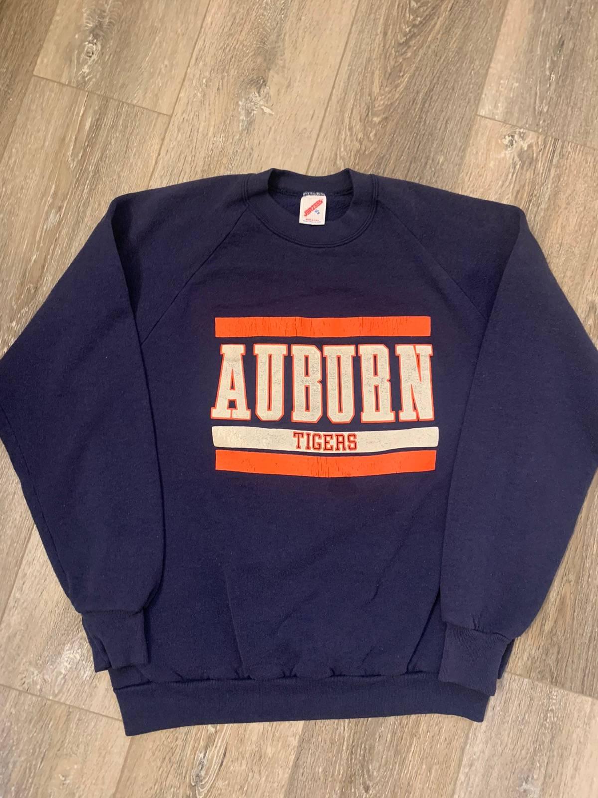 Vintage Auburn University Cropped Zip-up Tee XL