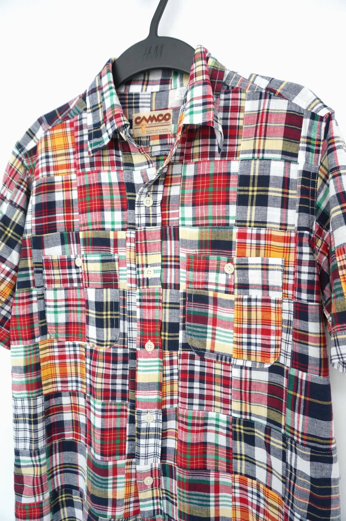 Vintage Camco Mfg Inc Patchwork Short Sleeve Buttons Shirt Grailed