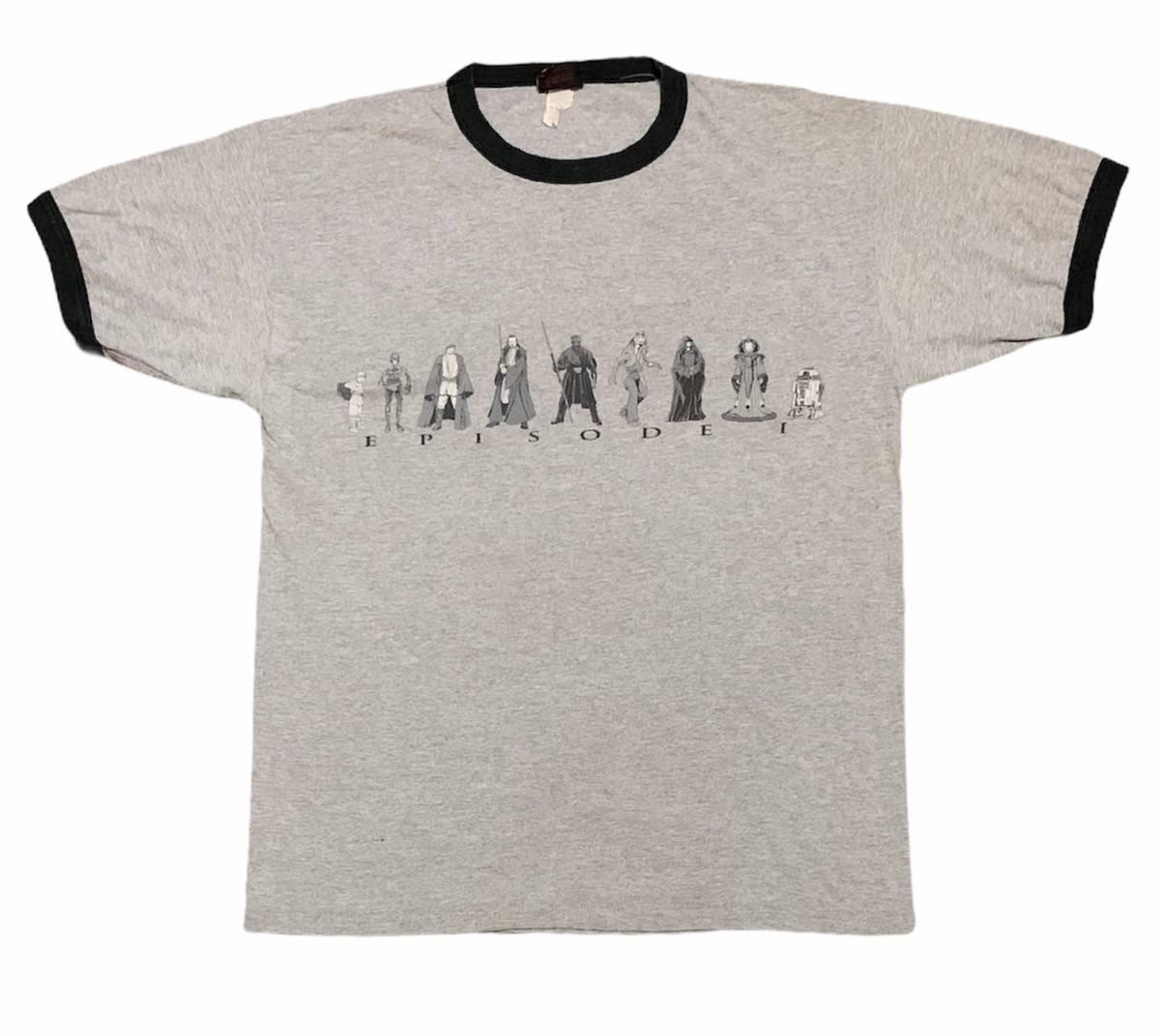 Vintage raree 1990 starwars character all overprint movie shirt