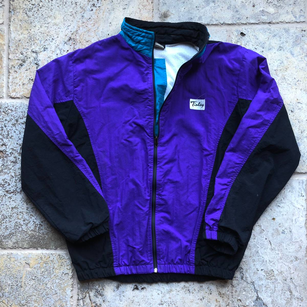 Vintage Tinley PurpleTeal 90s Zip Up Windbreaker Jacket
