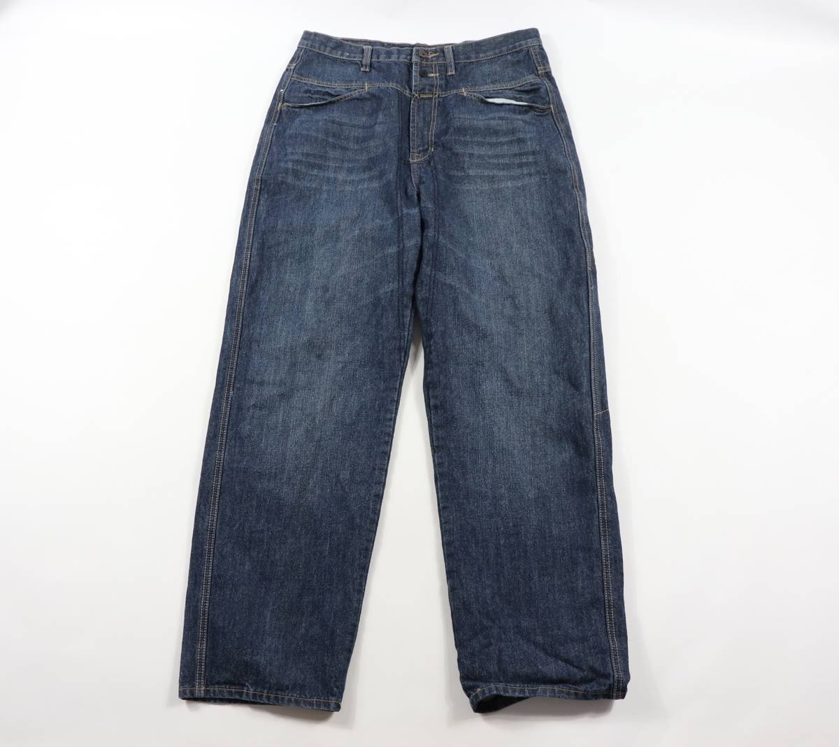 Girbaud 90s Girbaud Jeans 90s Marithe Francois Girbaud 90s Marithe Francois Girbaud Spell Out Stitched Denim Jeans Pants Blue Mens 34x34