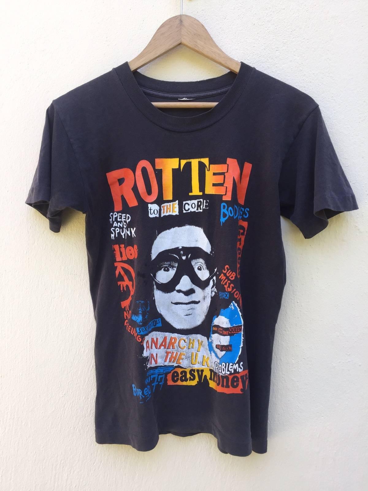 Johnny Rotten screen printed t-shirt punk sex pistols seditionaries size S-XXL