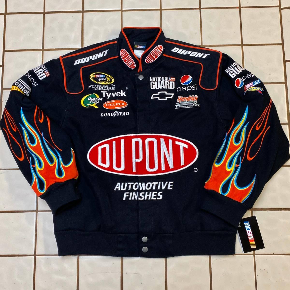 Vintage Vintage Dupont Jeff Gordon Nascar Flames Racing Jacket Sz M Grailed