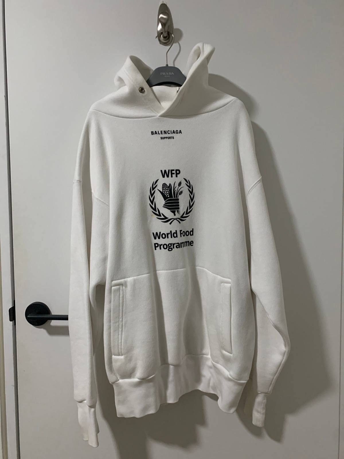 Balenciaga Balenciaga World Food Programme Hoodie White Grailed