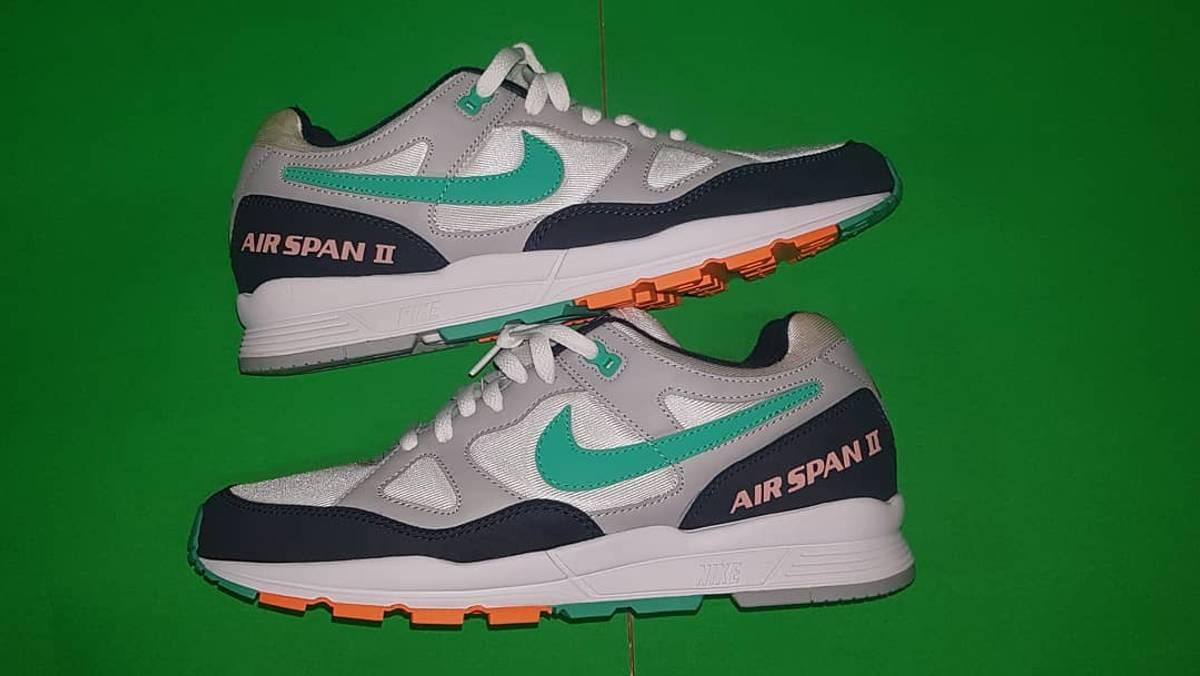 Rusia emulsión Palabra  Nike Nike Air Span 2 Wolf Grey / Kinetic Green | Grailed