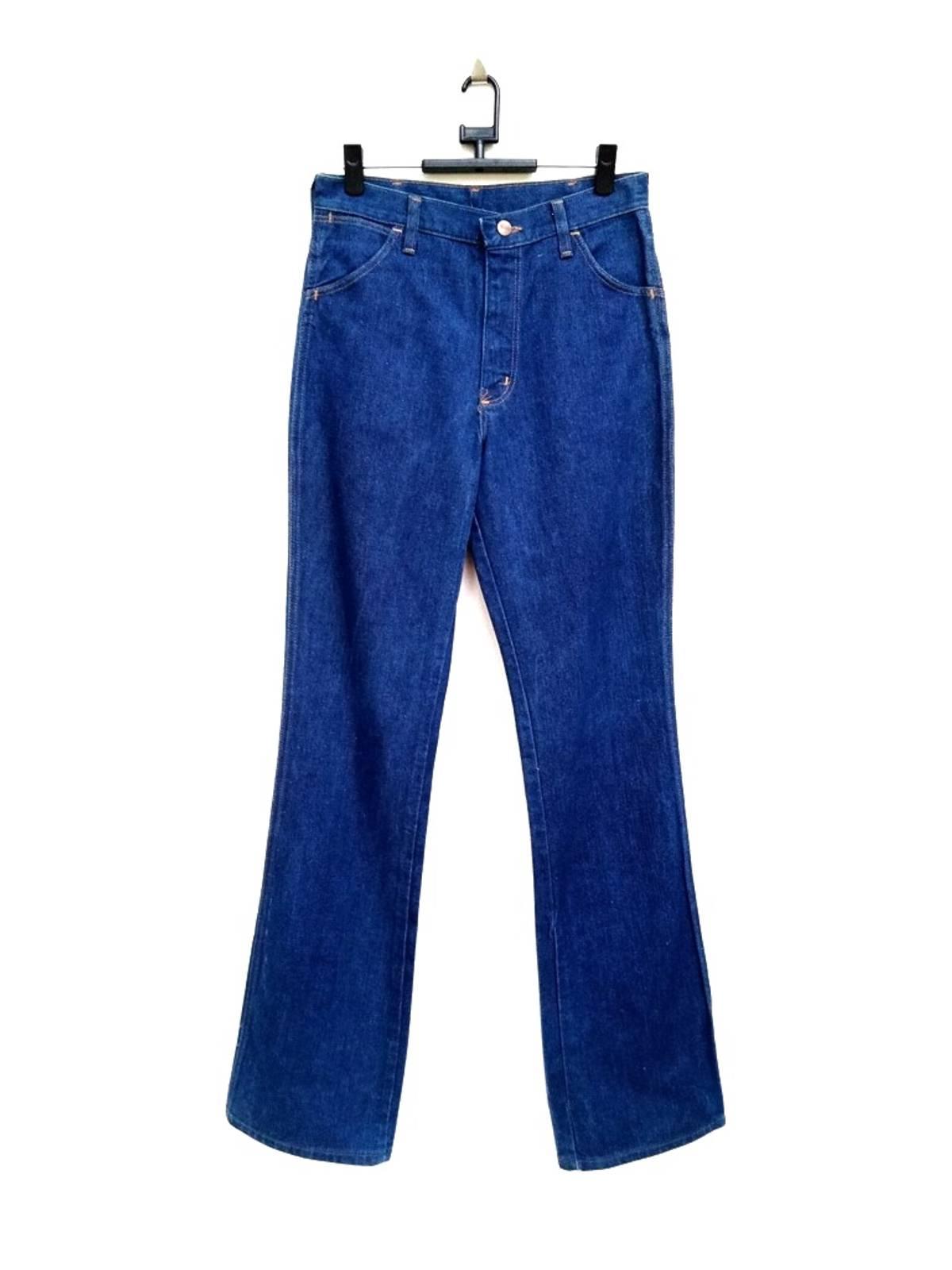 vintage 70s wrangler talon zipper up custom drawn cut off blue jean daisy duke shorts made in usa w31