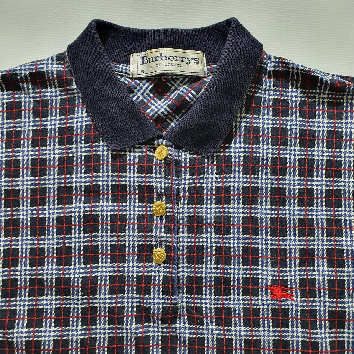 80/'s vintage Buerberrys polo shirts made in England