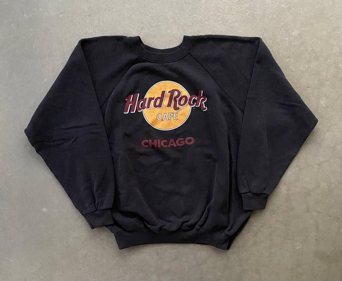 Vintage 90s Hard Rock Cafe Sweatshirt HRC San Diego USA Sweater Crewneck Hard Rock San Diego Jumper Big Logo Basic Printed Black Size Large