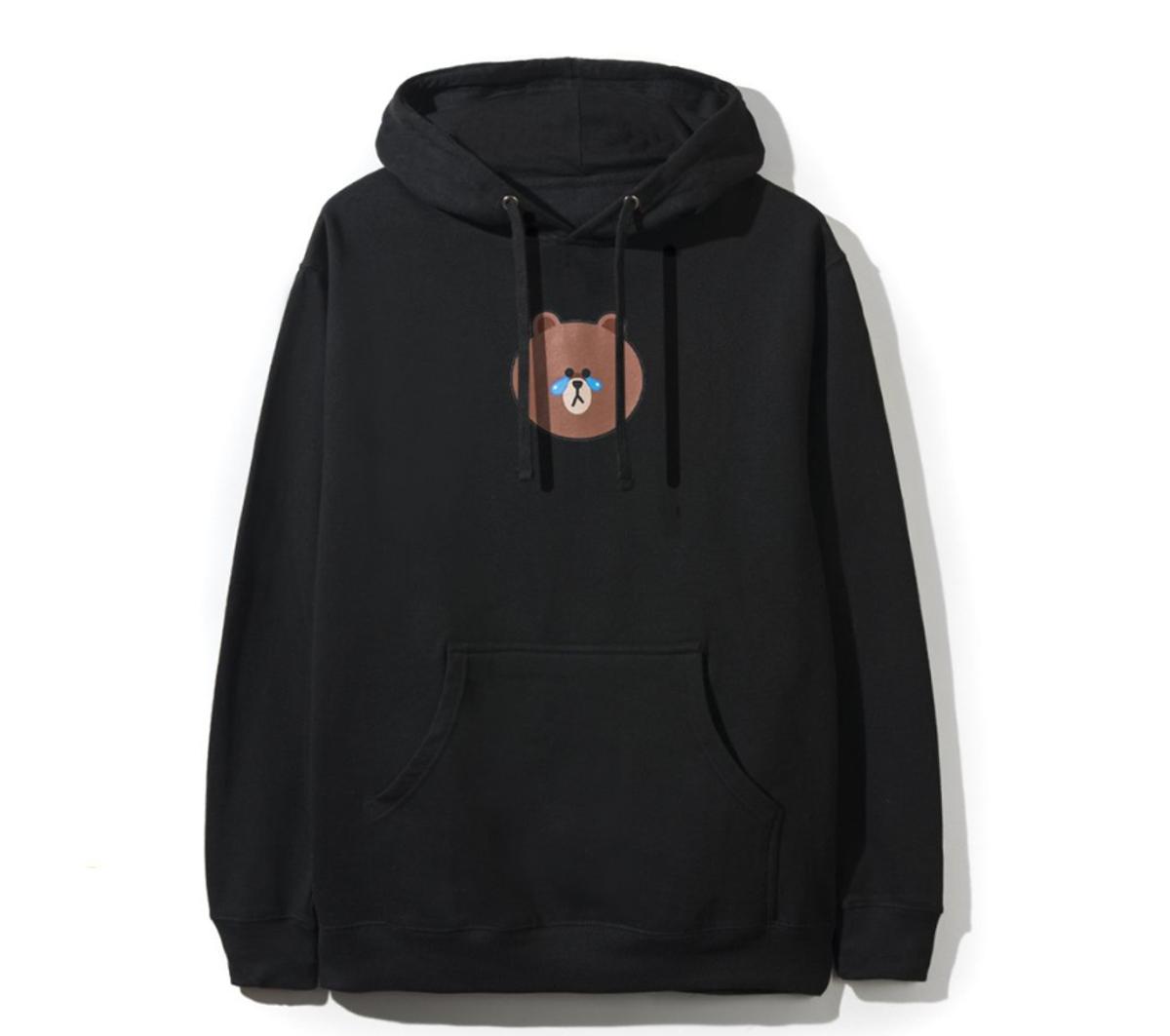 DS Anti Social Social Club ASSC x LINE FRIENDS Brown Bear White hoodie Supreme