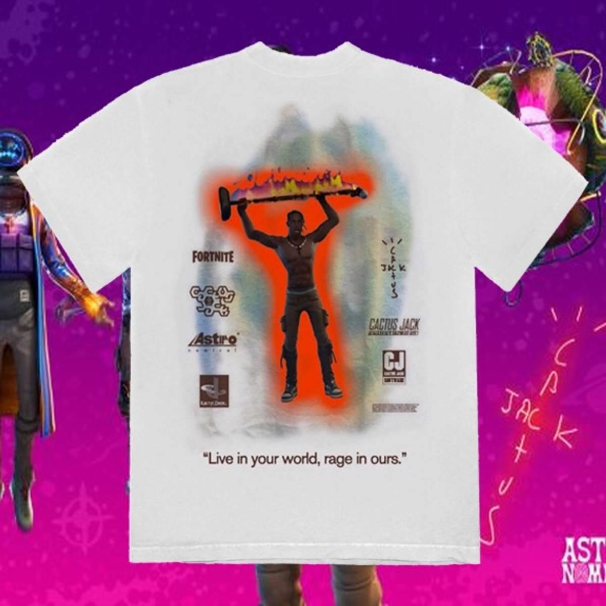 Travis Scott Travis Scott Fortnite Shirt Cactus Jack Astronomical Rap Tee Grailed