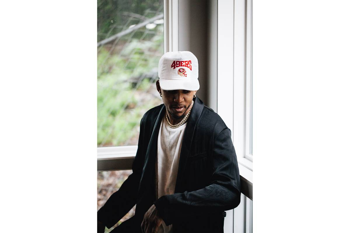 At Home With Nick Young Gearing Up For Swaggy Ps Big Summer Tendencies Caps Savage Navy Slide 1 Of 3