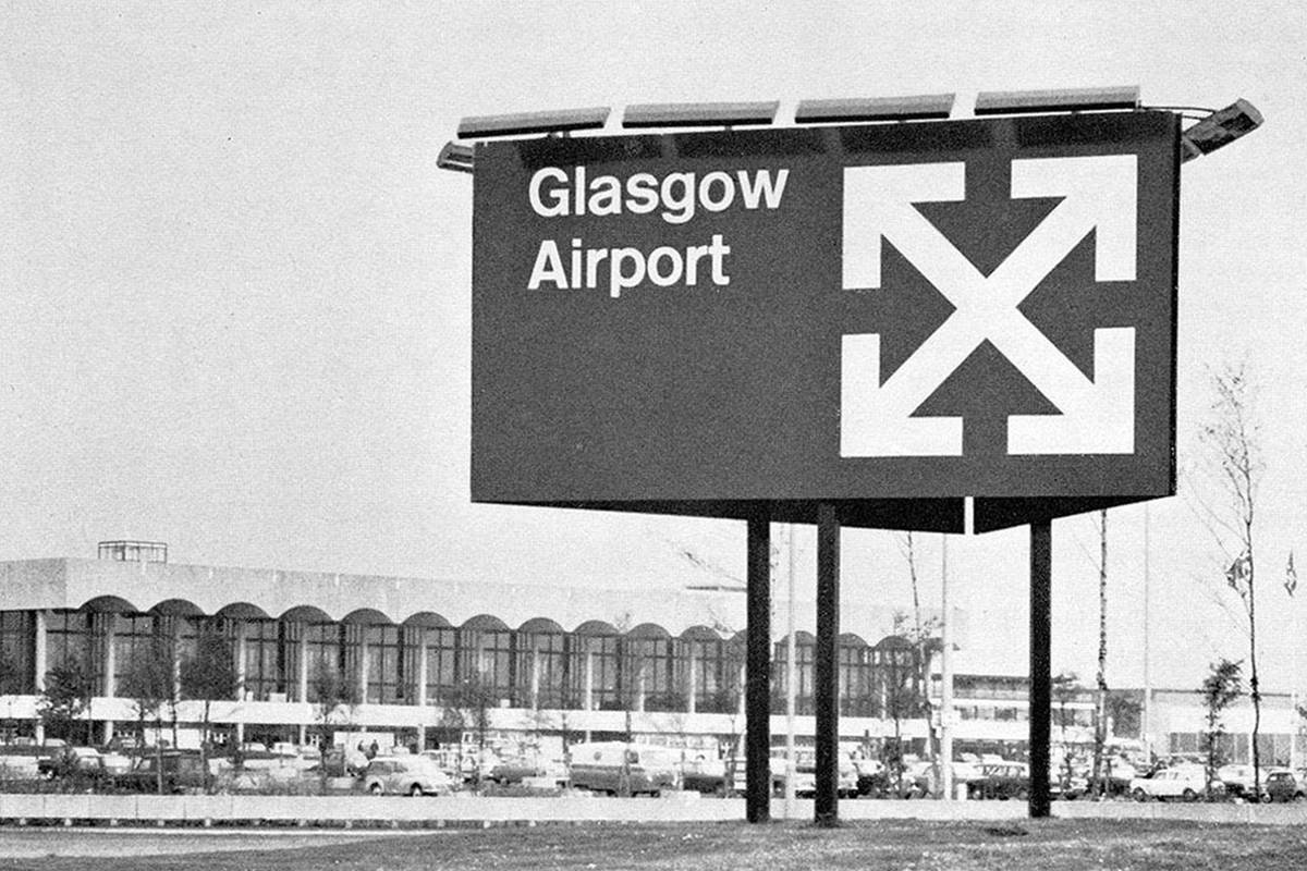 Image result for glasgow airport off white