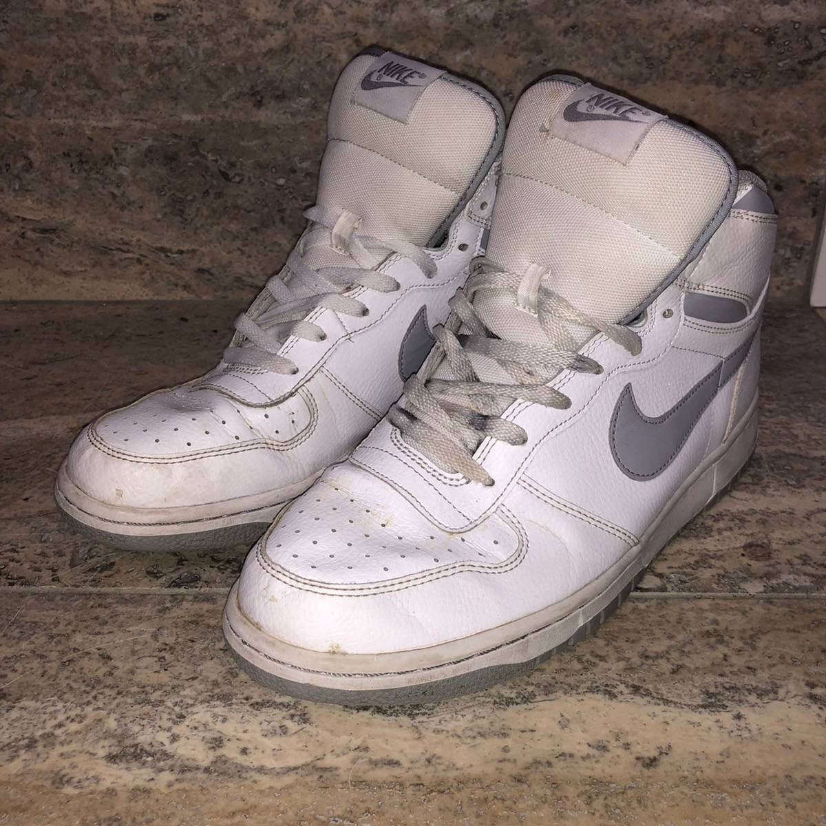Helecho Potencial famoso  Nike Big Nike High White Wolf Grey | Grailed