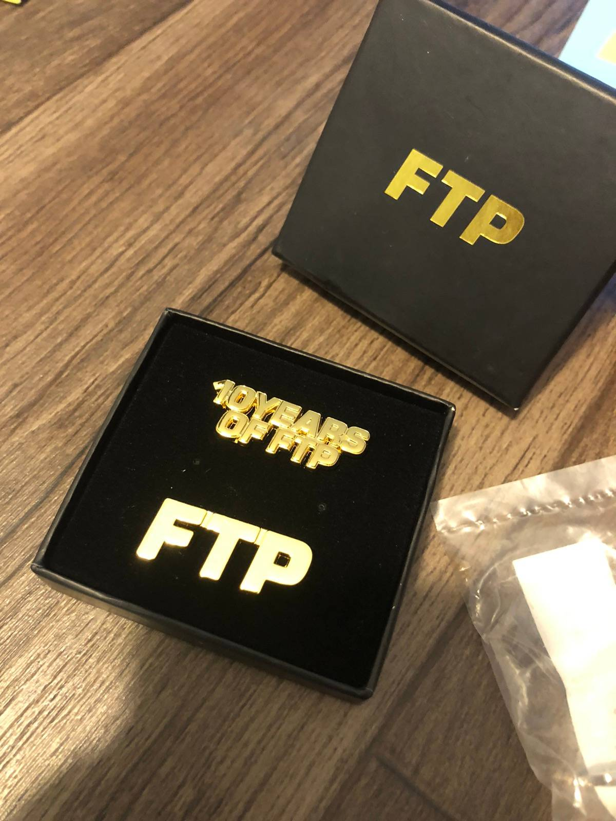 FTP Fuckthepopulation 10 Year Anniversary Logo Pin Set Brand New 2 Pins Together
