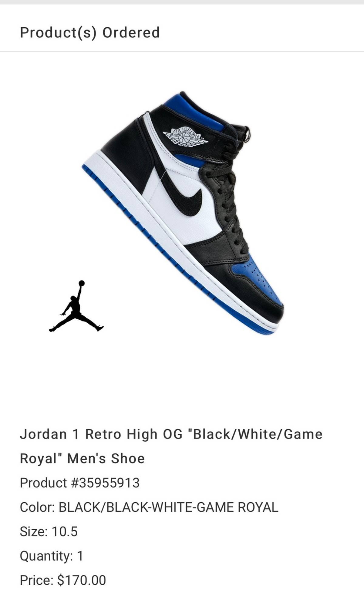 Nike Air Jordan 1 Retro High Og Royal Toe Grailed