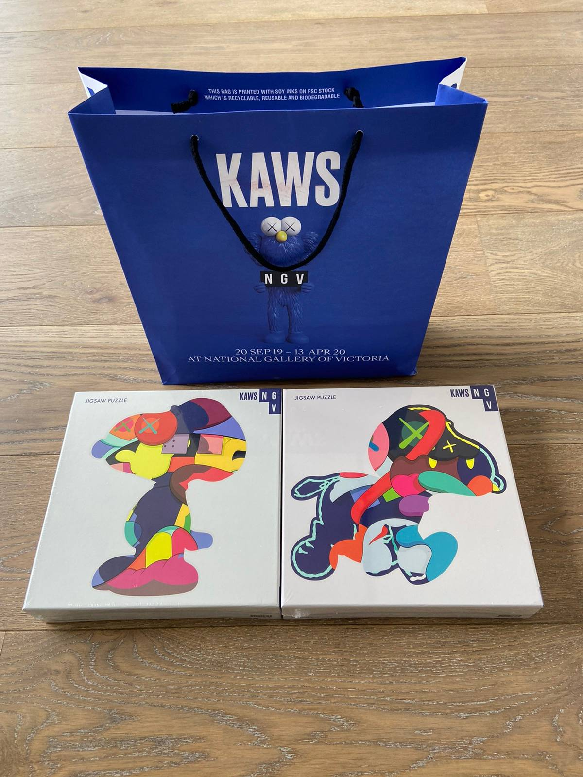 KAWS x NGV Design Store Exclusive No Ones Home 1000 Piece Puzzle 100/% Authentic