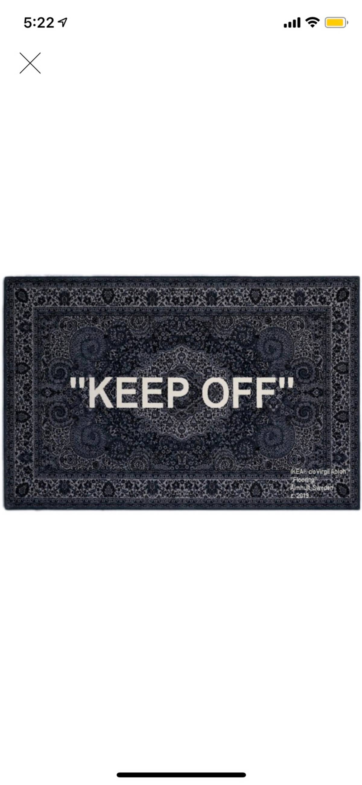 Off White Off White Ikea Keep Off Rug Virgil Abloh Grailed