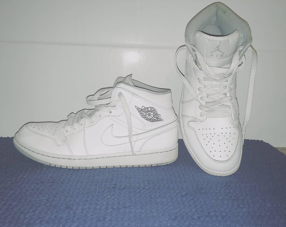 Jordan Brand Air Jordan 1 Mid White Wolf Grey Grailed