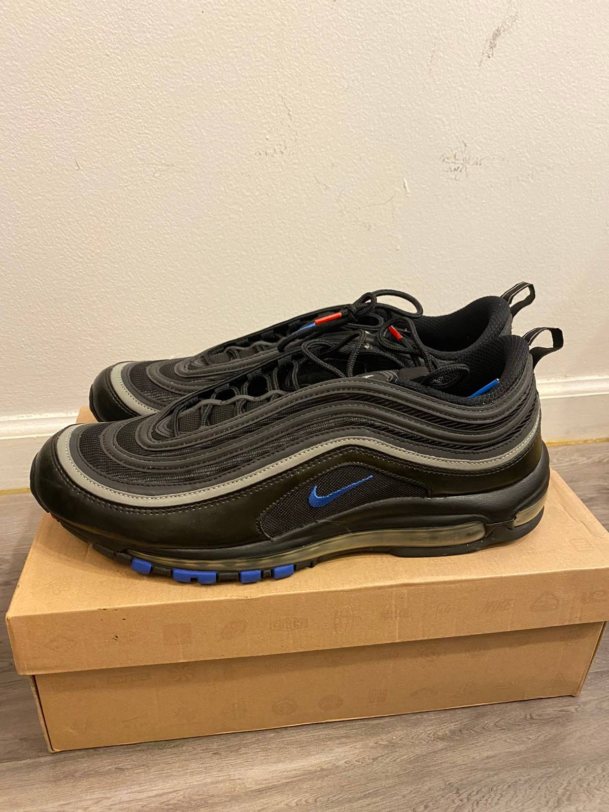 Nike 2009 Nike Air Max 97 Black Met Silver Red Blue Grailed