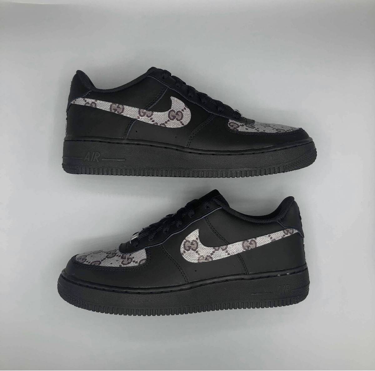 Nike Air Force 1 Grey Gucci Custom Grailed