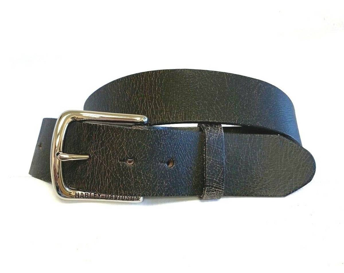 Vintage Black Leather Belt